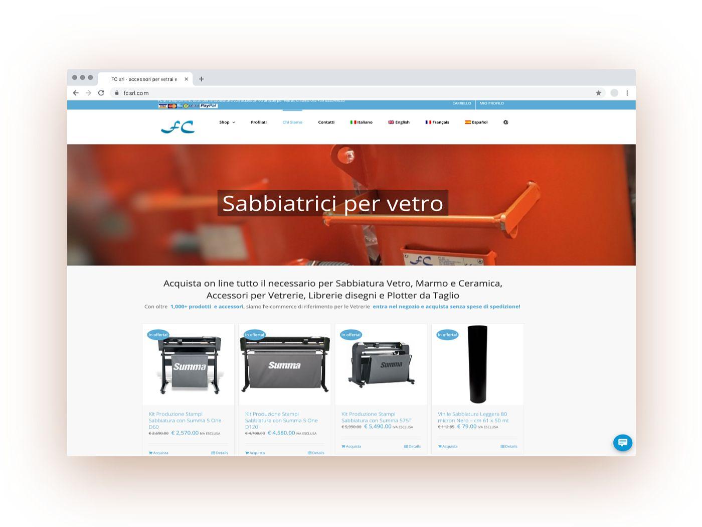 Realizzazione Sito E-Commerce & SEO   PMI   FC srl   Agile srl