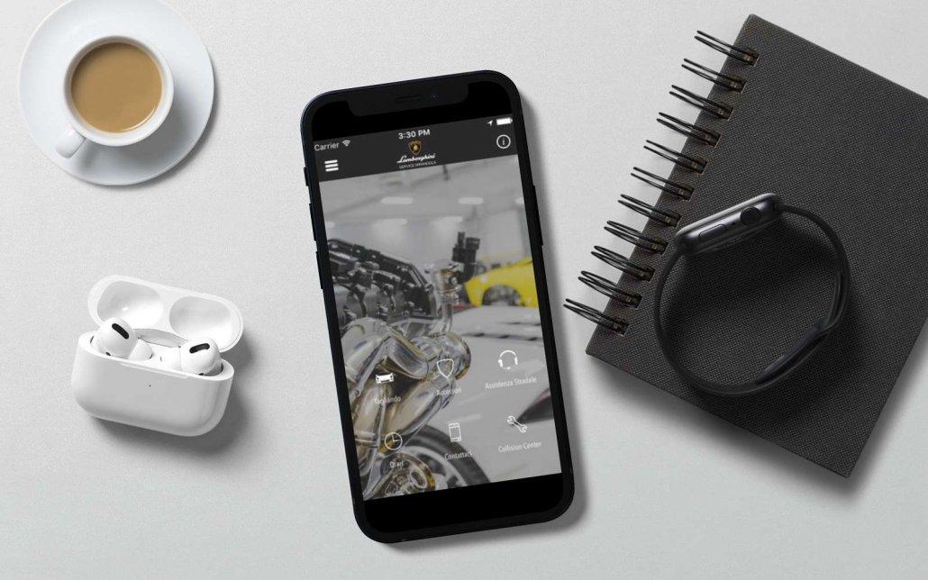 Sviluppo Mobile App iOS | PMI | App Lamborghini Service | Agile srl