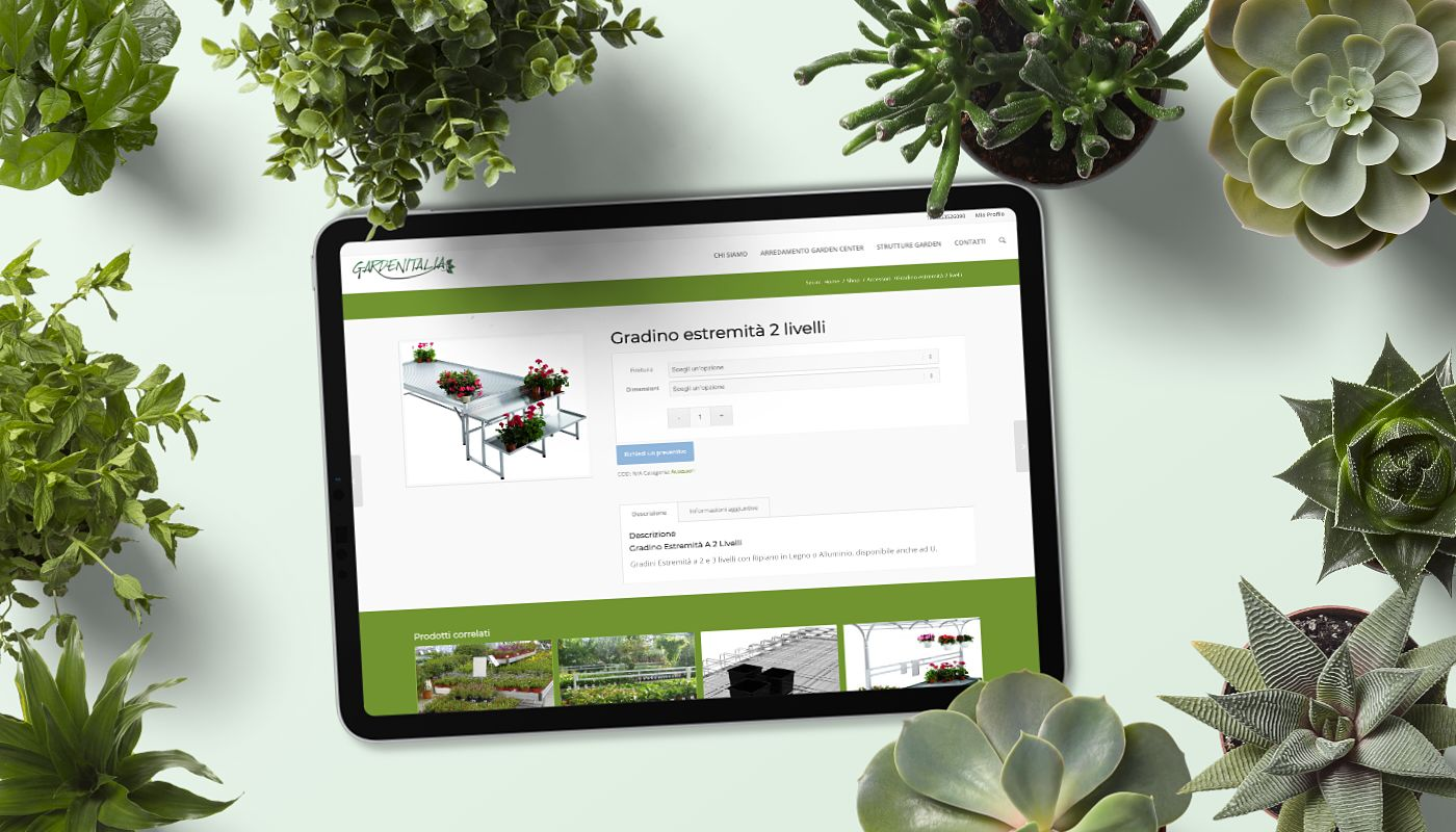 Realizzazione Sito E-Commerce & SEO   PMI   GardenItalia   Agile srl
